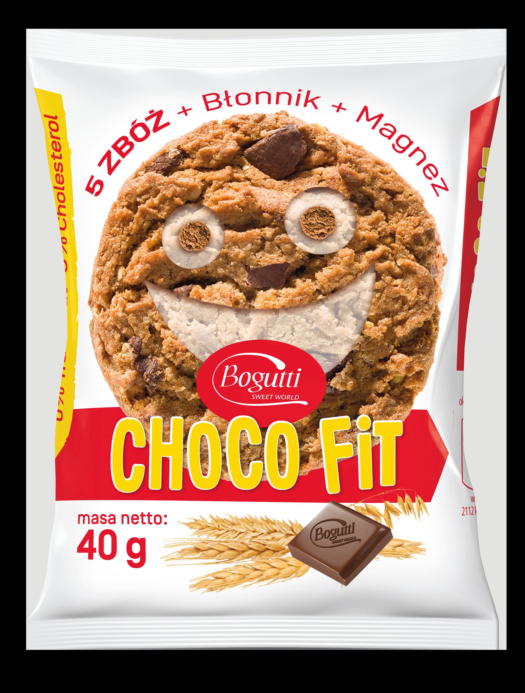 Choco Fit – Kruche ciasteczko z 5 zbożami, magnezem, błonnikiem i czekoladą