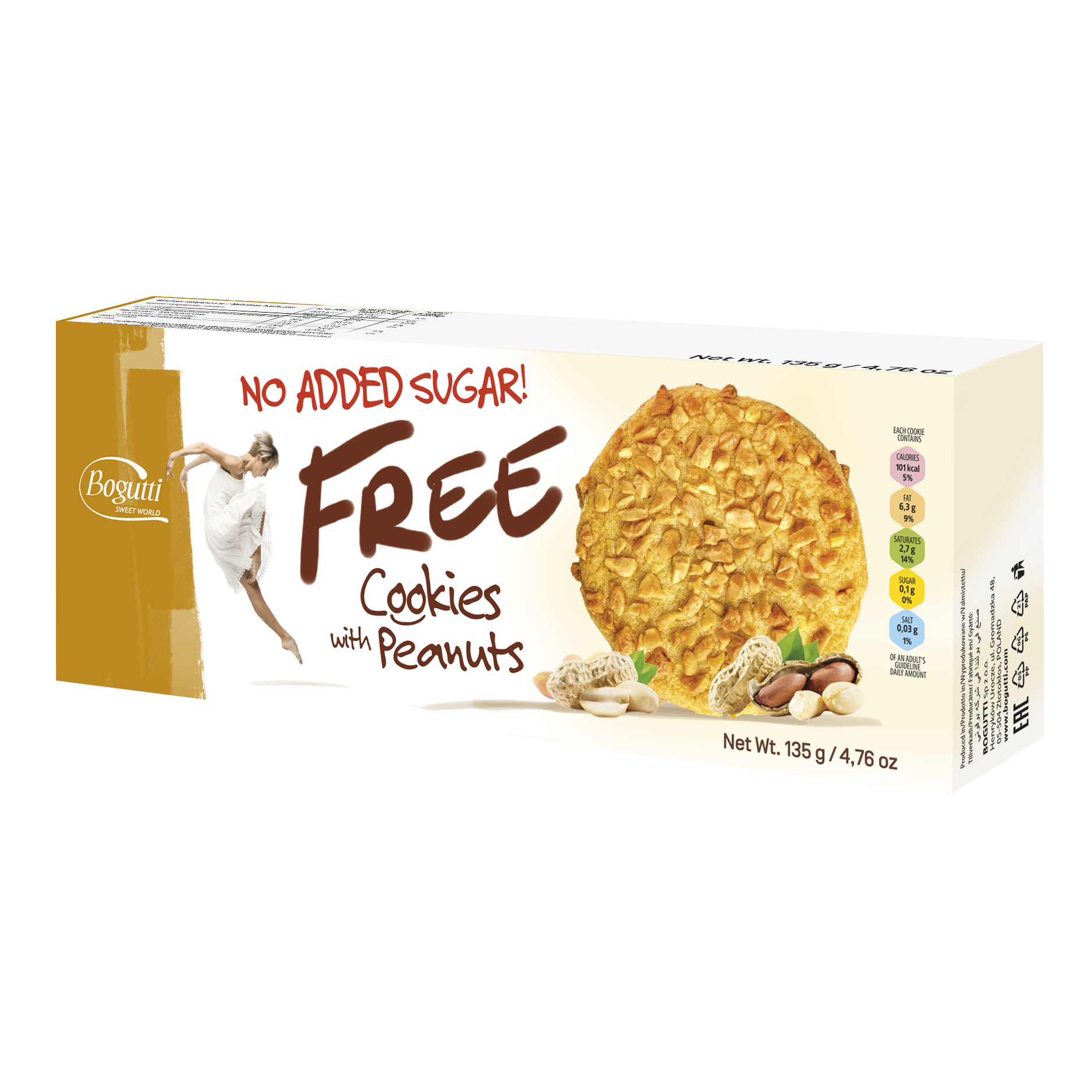 FREE – NO ADDED SUGAR Cookies with peanuts