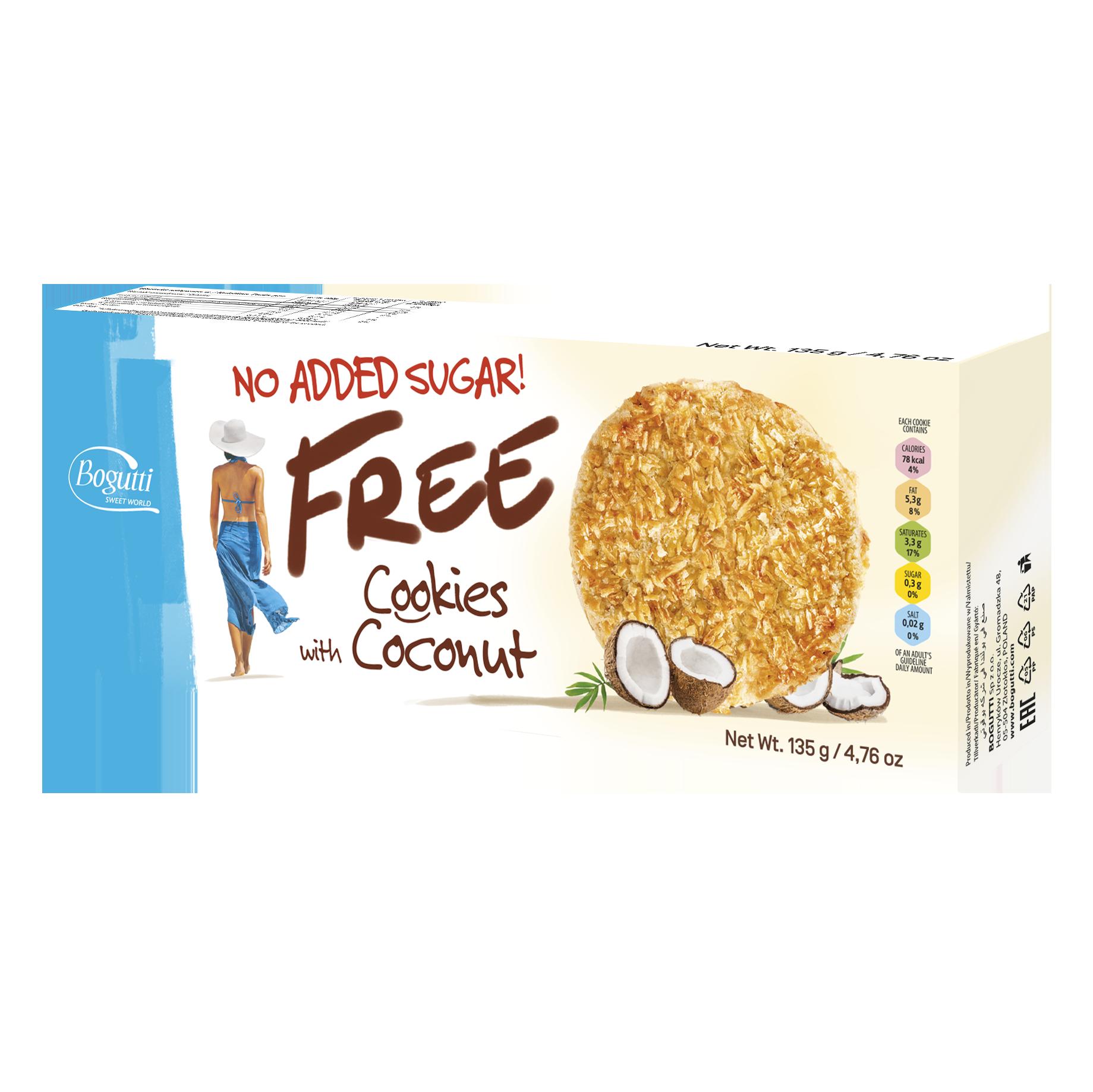 FREE – خالٍ من السكر المضاف كوكيز بجوز الهند
