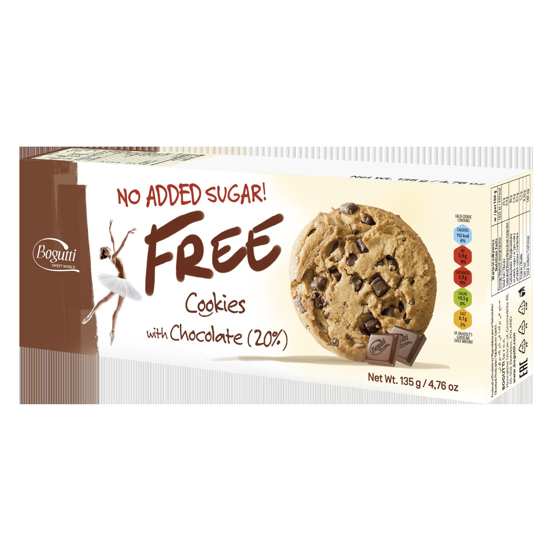 FREE – Печенье без сахара содержащее 20% шоколада