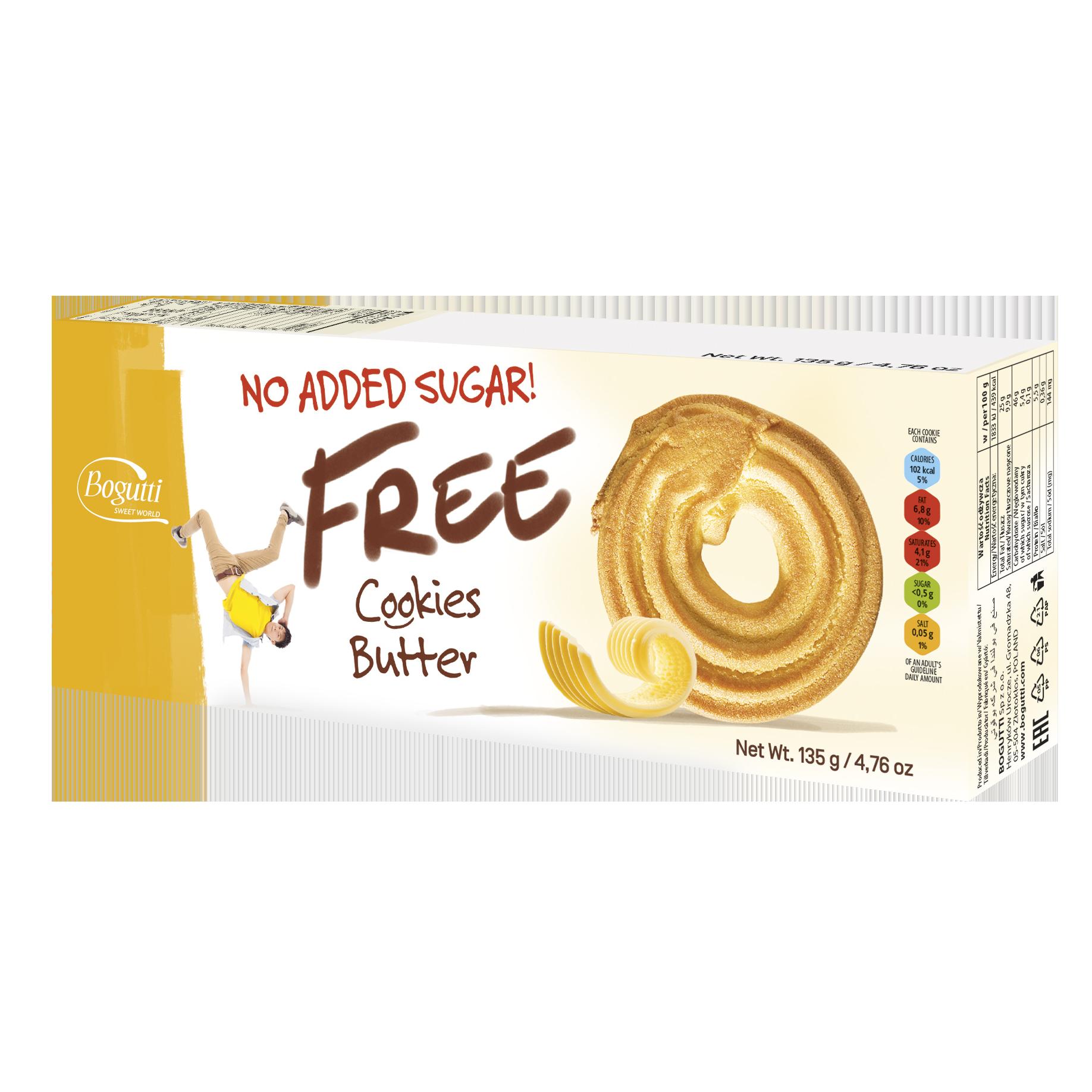 FREE – Biscuits au beurre sans ajout de sucre contenant 20 % de beurre