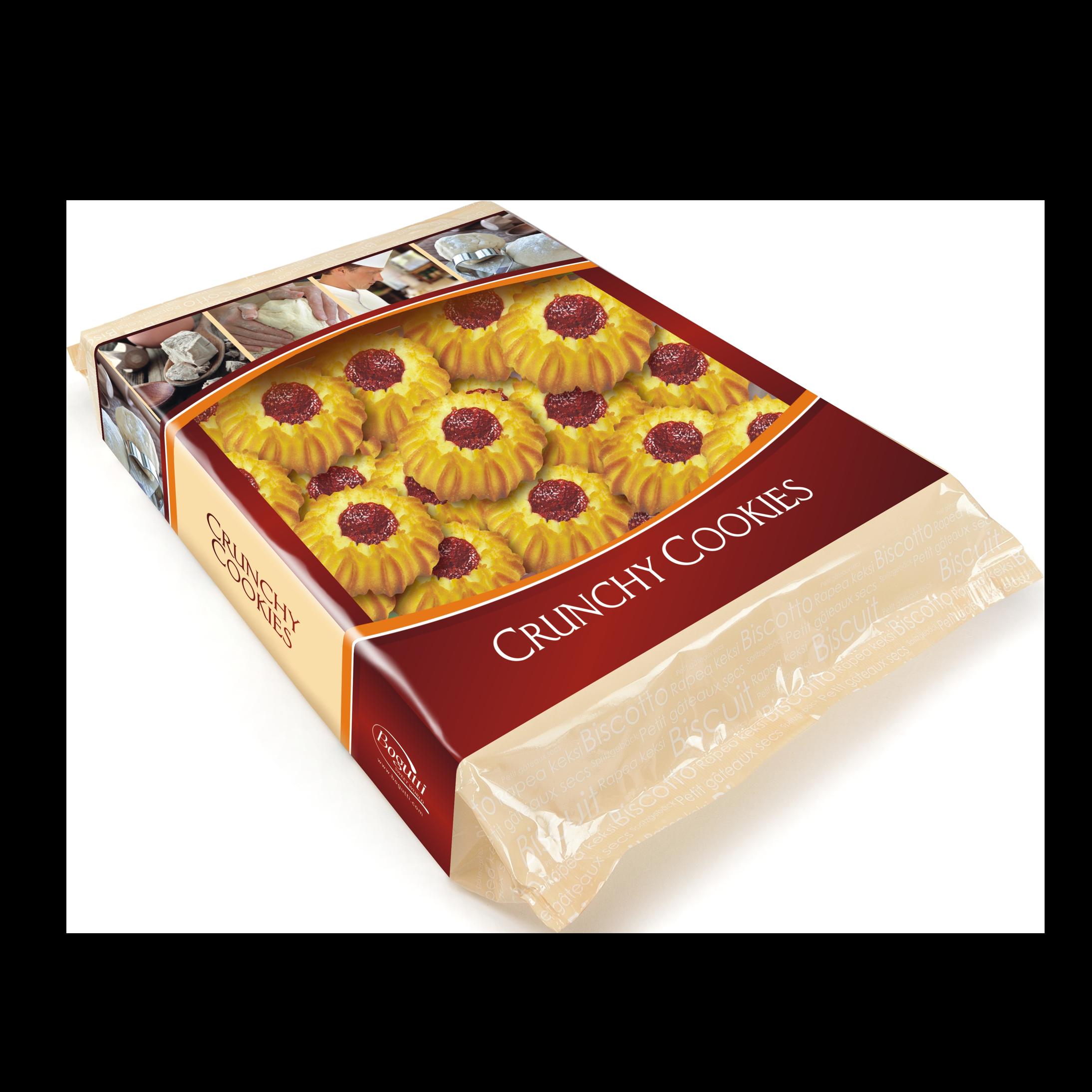 Kruche ciasteczka z marmoladą wiśniową lub morelową