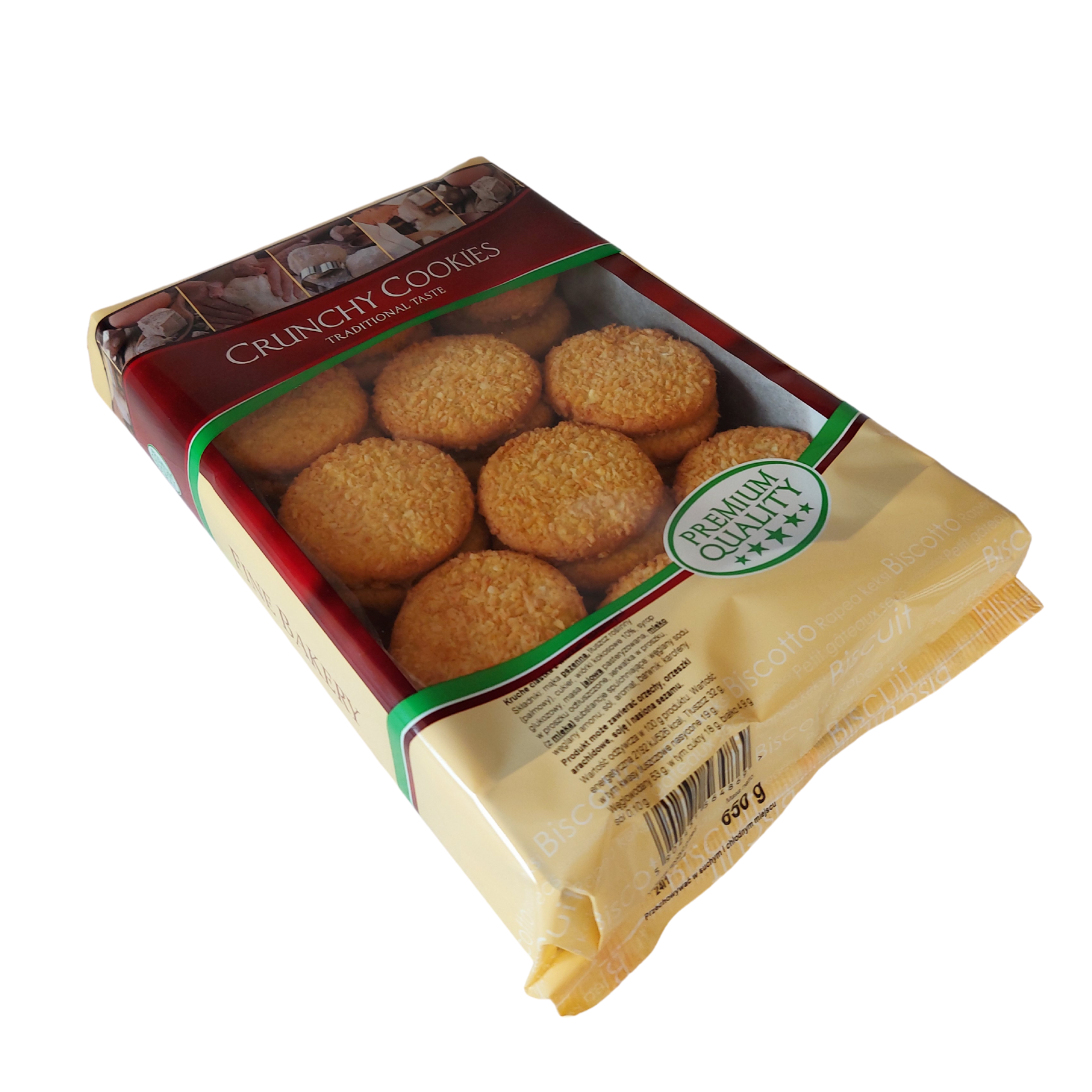 Kruche ciasteczka z wiórkami kokosowymi