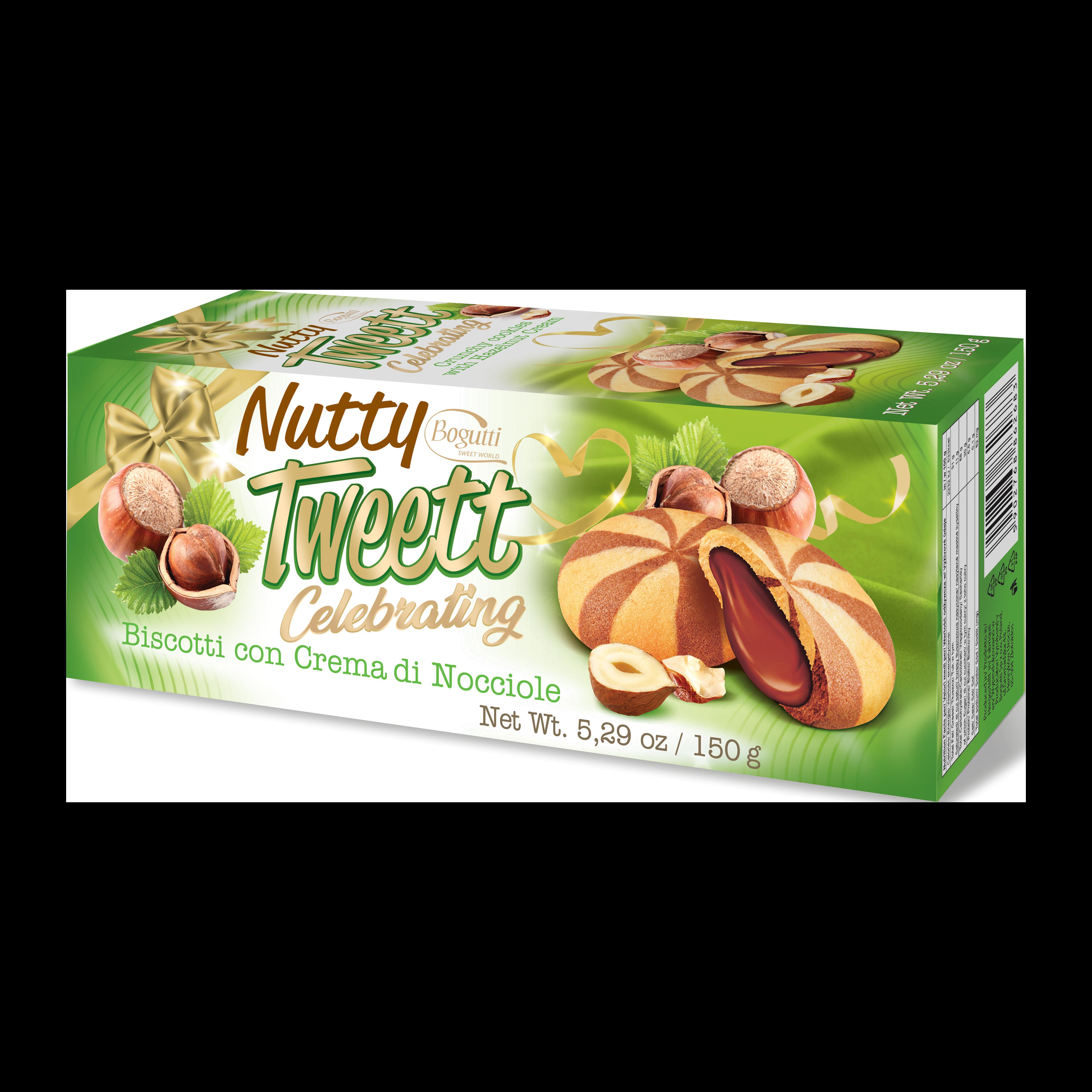 Nutty Tweett Celebrating – Kruche ciasteczka z kremem orzechowym