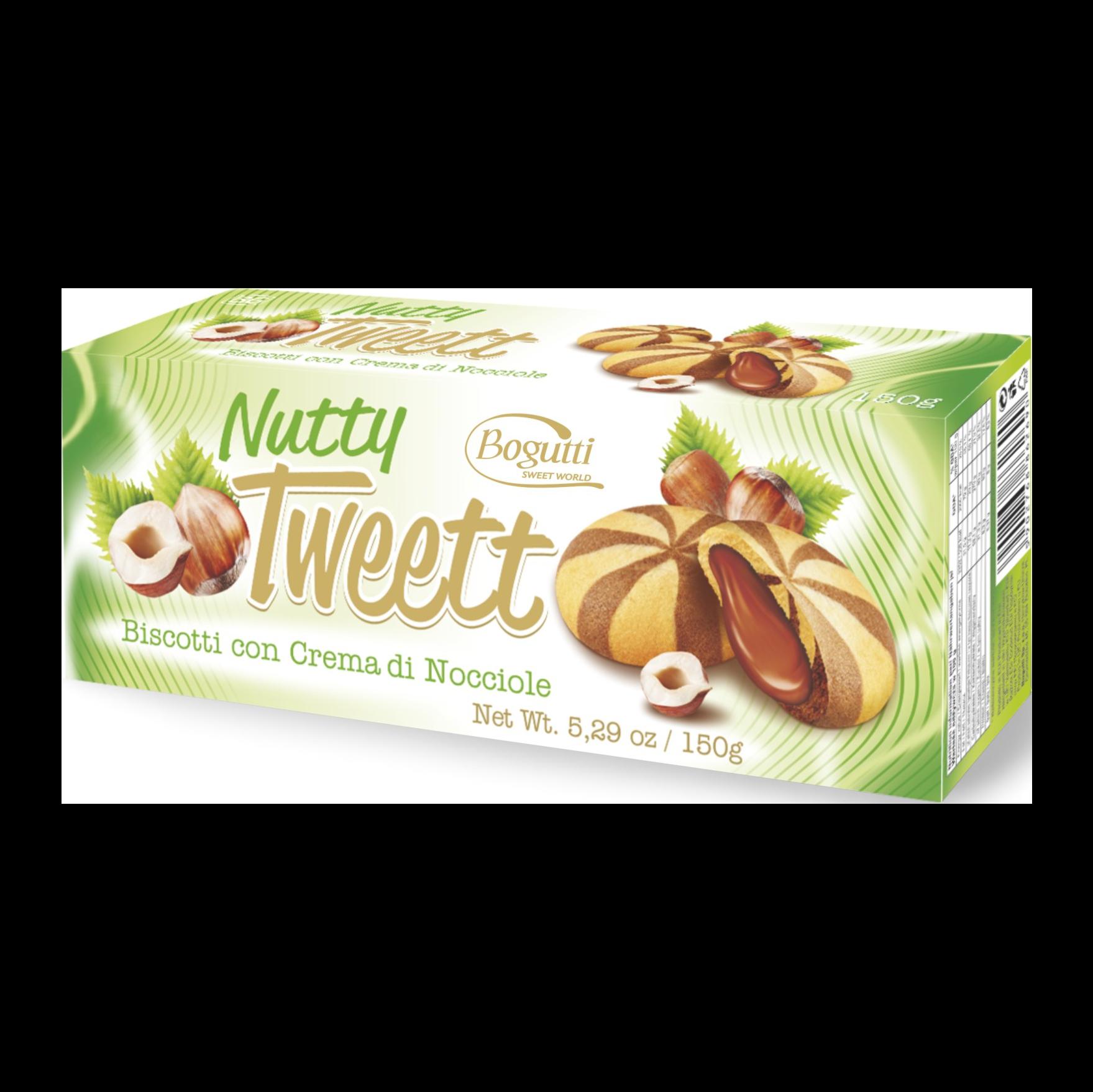 Nutty Tweett – Kruche ciasteczka z kremem orzechowym