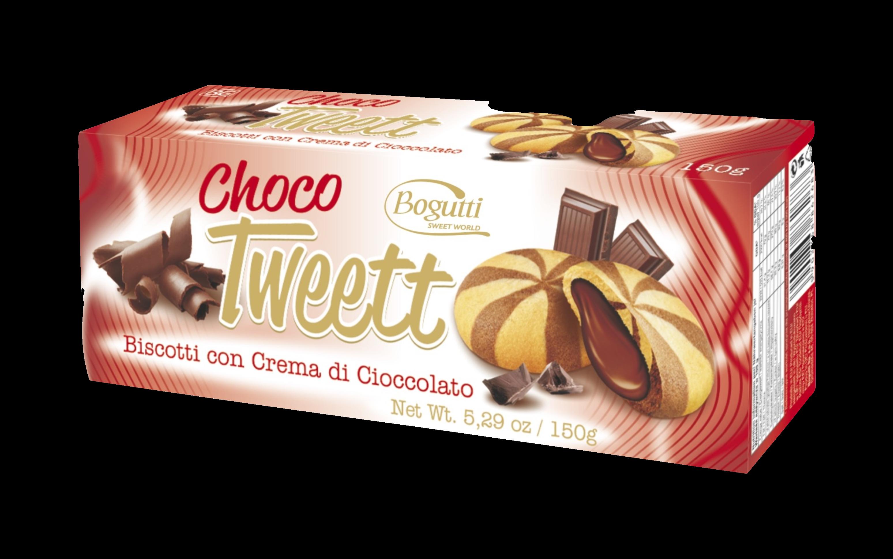 Choco Tweett – Kruche ciasteczka z kremem czekoladowym