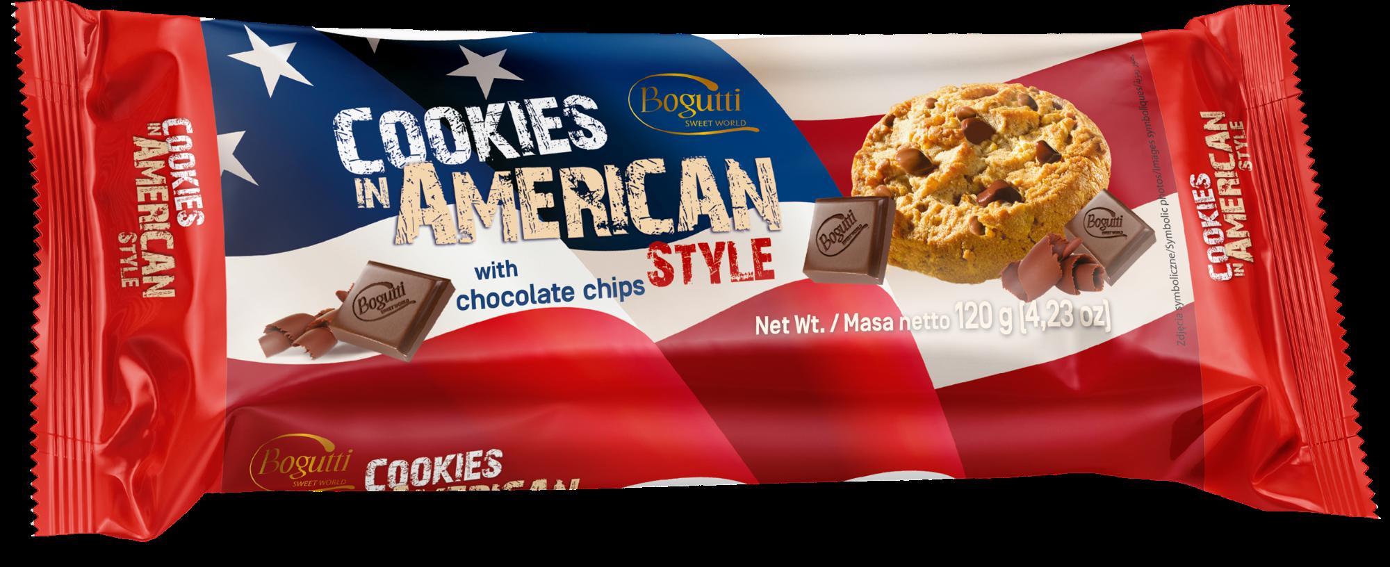 Cookies in American Style – Kruche ciasteczka z czekoladą
